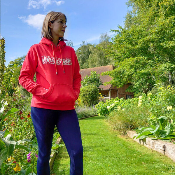 Unconventionall Red Womens Hoodie